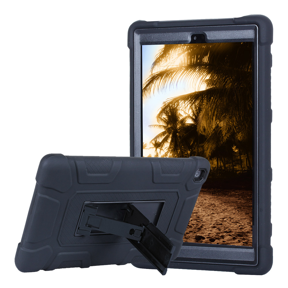For Amazon New Kindle Fire HD 8 2017 Rugged Armor Tablet Case Cover Hybrid Shockproof He ...