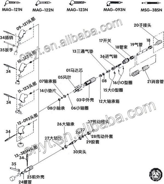 Aliexpress Com Buy Air Hand Tool Grinder Parts Air Tools