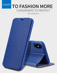 X-Level Ultra Thin Leather Flip Phone Case For iPhone 6 Case iPhone 8 7 Plus Stand Holder Protectiv Cover For iPhone X XS Max XR 6