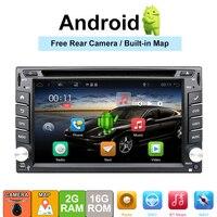 2 din автомобиля Авторадио аудио 2din стерео для Универсальный Центральный multimidia android 7,1 DVD плеер с wi fi, поддержка DAB, ТВ, 4 г