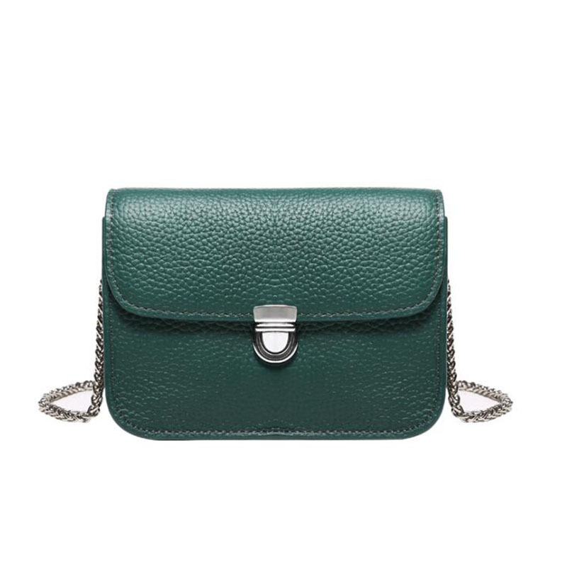 Genuine Leather Bags for Women 2018 Messenger Bag Designer Female Shoulder Chain Hand Bags Ladies Green Crossbody Bag BolsaGenuine Leather Bags for Women 2018 Messenger Bag Designer Female Shoulder Chain Hand Bags Ladies Green Crossbody Bag Bolsa