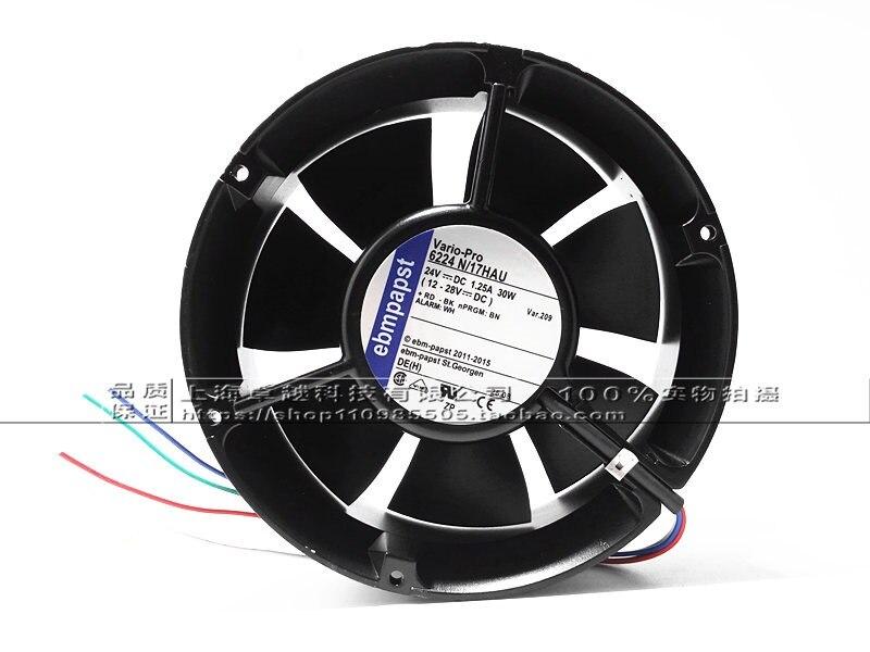 New original 6224NHA 24V 30W 3PIN 172X51mm full circle presses fan skil f0156224la 6224