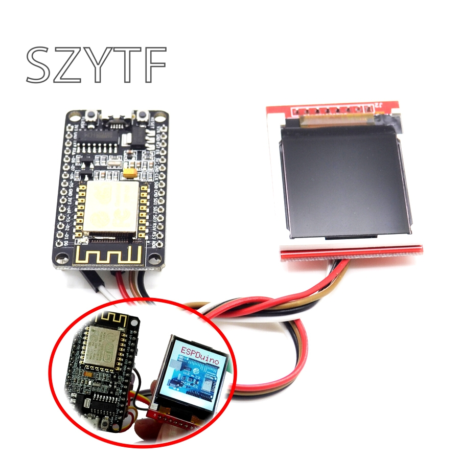 ESP8266 Development Kit With Display Screen TFT Show Image Or Word By Nodemcu Board DIY Kit CH340 NodeMcu V3 Lua WIFI