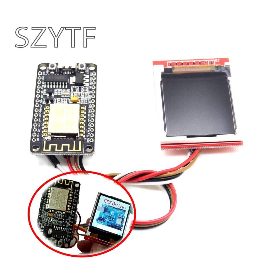 ESP8266 Kit de desarrollo con pantalla TFT pantalla Mostrar imagen o palabra por Nodemcu placa DIY Kit de CH340 NodeMcu V3 Lua WIFI