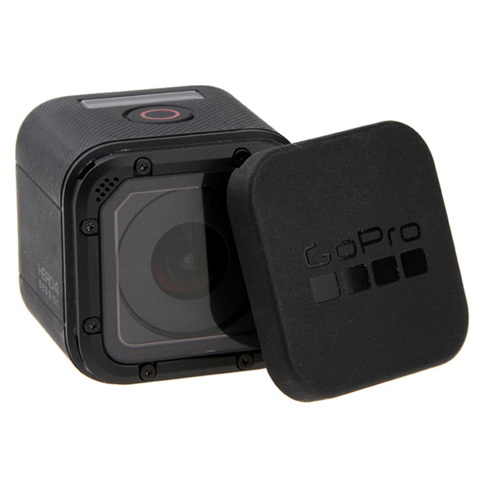 WINGRIDY For Gopro Hero 5 4 Session Lens Cap Cover Housing Case Protective with Gopro Logo For Go pro Hero 4/5 Session 5S 4S high precision cnc aluminum alloy lens strap ring for gopro hero 3 red