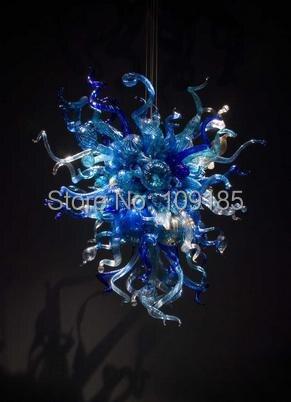 110 220v Ac Led Cute Cobalt Blue Murano Glass Antique Pendant Lights