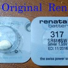 306767a67 2 قطعة/الوحدة brand new ريناتا طويلة الأمد 317 sr516sw SR62 D317 V317 ساعة  سويسرية زر عملة خلية البطارية 100% الأصلي
