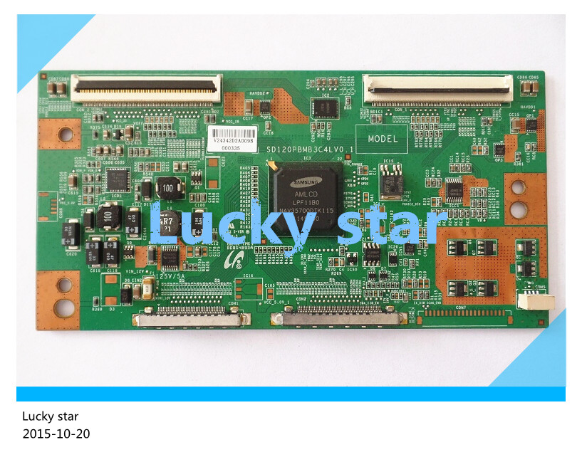 good working High-quality for original 98% new for board SD120PBMB3C4LV0.1 FOR LTA550HQ16/17 T-con logic board 2pcs/lot 6870c 0511a t con logic board for printer t con connect board