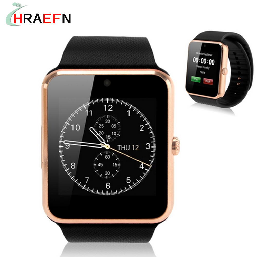 HRAEFN Bluetooth Smart Watch GT08 Sport Clock Sync Notifier smartwatch for IOS iphone Android huawei samsung