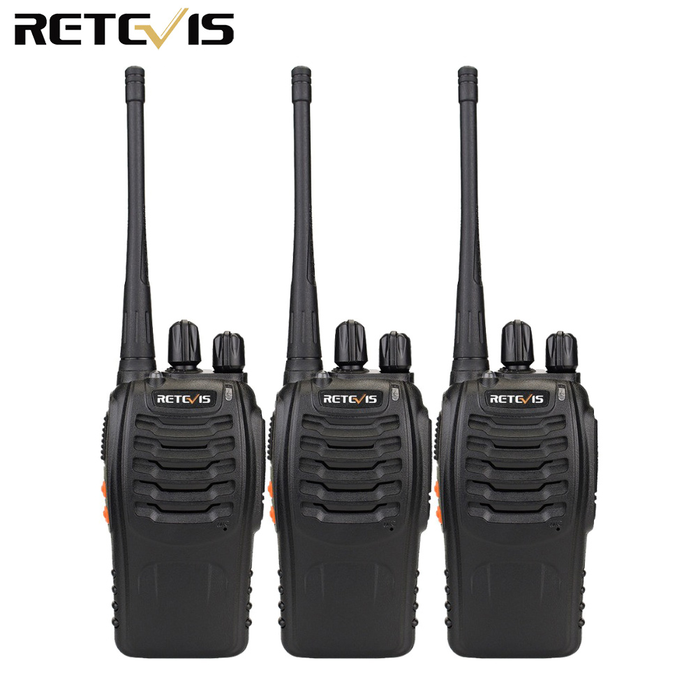 3pcs Walkie Talkie Retevis H777 16CH UHF 400 470MHz Ham Radio HF Transceiver 2 Way Radio