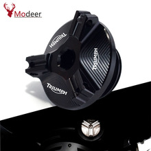 Buy Motorcycle Oil Filler Cap Plug cover For TRIUMPH Daytona T955 Tiger 955i Sprint GT1050 RS/ST Tiger Explorer Street Triple 675 directly from merchant!