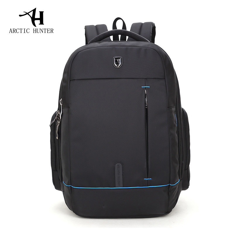 ARCTIC HUNTER Waterproof Student Backpack Bag For College Simple Design Men Casual Male New Backpack Travel Laptop Bag design male leather casual fashion heavy duty travel school university college laptop bag backpack knapsack daypack men 1170g