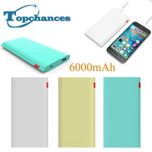 2016 High Quality New 6000mAh Power Bank  External Battery Charger Slim Powerbank for iPad & Mobile Phones free shipping