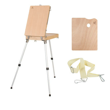 Premium Beech Wood Stand Easel Box Portable Folding Wooden Easel Table Easel For Painting