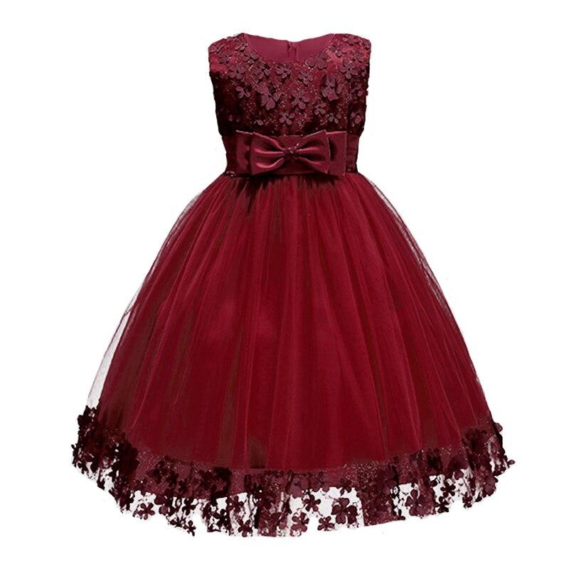 Nacolleo tule ontwerp bloem meisjes partij trouwjurk zomer kant - Kinderkleding