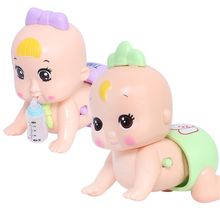 Premium New 1Pc Early Education Singing Crawling Light Up Call Mom And Dad Baby Toy Girl 0-3 years Electric Doll