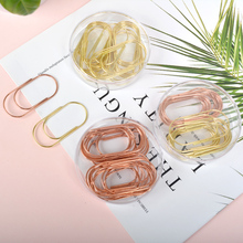 50mm Large Rose Gold Gold Bookmark Planner Paper Clip Metal Material Bookmarks for Book Stationery School Office Supply deli 12pcs box rose gold plating metal material paper clip heart envelope shape paper clip cute bookmark tag clip