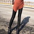 Genuine Leather Pants For Women High Quality Stretch Genuine Leather Legging High Waist Leggings Stretch Slim Black Pants Ladies