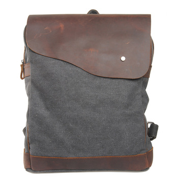 New Top Quality Canvas + Real Cow Leather Luxury Vintage Men Backpack Travel School Bags Large Capacity Laptop Daypack Bookbag