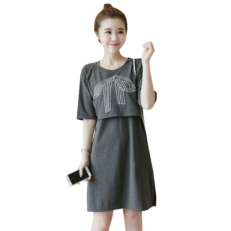 Feeding Dress For Pregnant Women Clothes Maternity Nursing Dress Pregnancy Breastfeeding Dress Gravidas Lacation Clothing