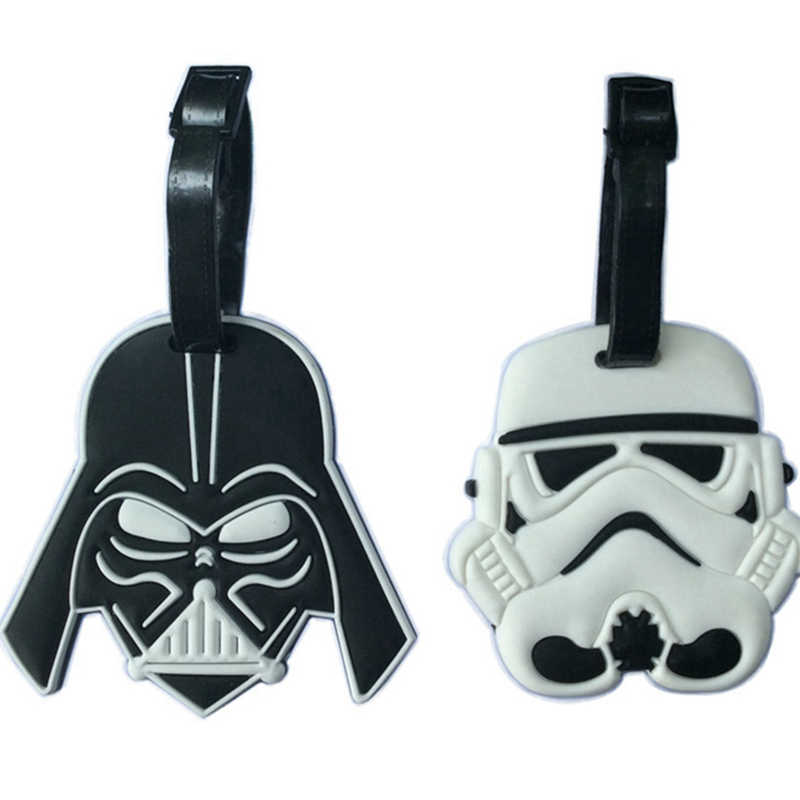 Cartoon Star Wars Bagagelabel Reizen Accessorles Silicagel Koffer Id Adres Holder Bagage Boarding Tag Draagbare Label