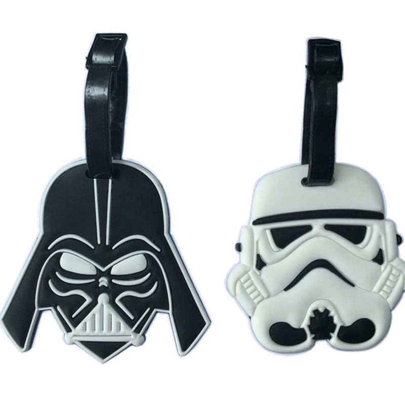 Cartoon Star Wars Luggage Tag Travel Accessorles Silica Gel Suitcase Id Address Holder Baggage Boarding Tag Portable Label
