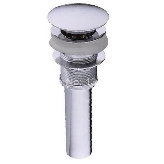Polished Chrome Large Round Cap Pop UP Bathroom Sink Drain Without Overflow  Asd009