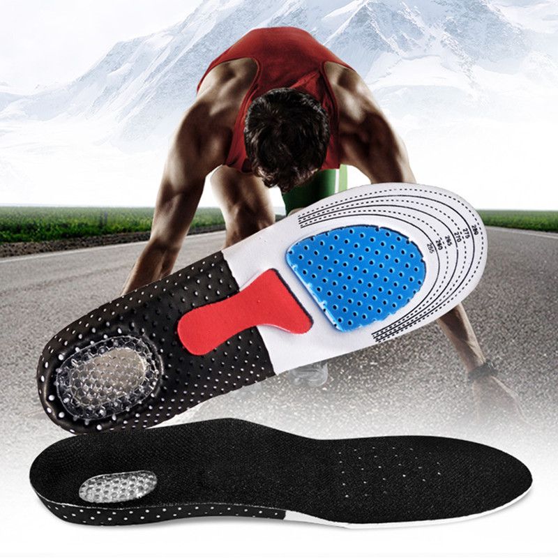 Plus Size Silicone Insoles Gel Shoe Pads Orthopedic Insole Deodorant Massage Shock Absorber Shoes Insoles Orthopedic Men Women
