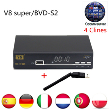 Nueva llegada HD Openbox V8 Super + 1 unids usbwifi + 1 año CCCAM apoyo 3G Wi-Fi Lan iptv Powervu Youporn DVB-S2 Receptor de Satélite