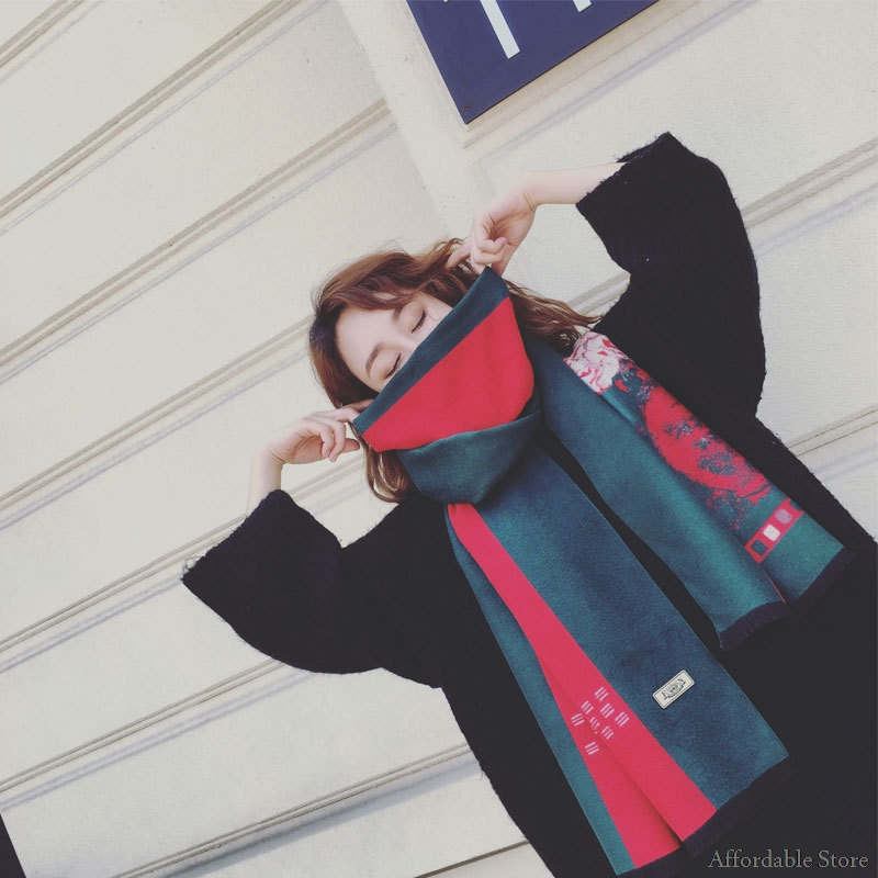 Shawl scarves thick autumn and winter female warm wild national wind double cashmere winter cloak long dual-use