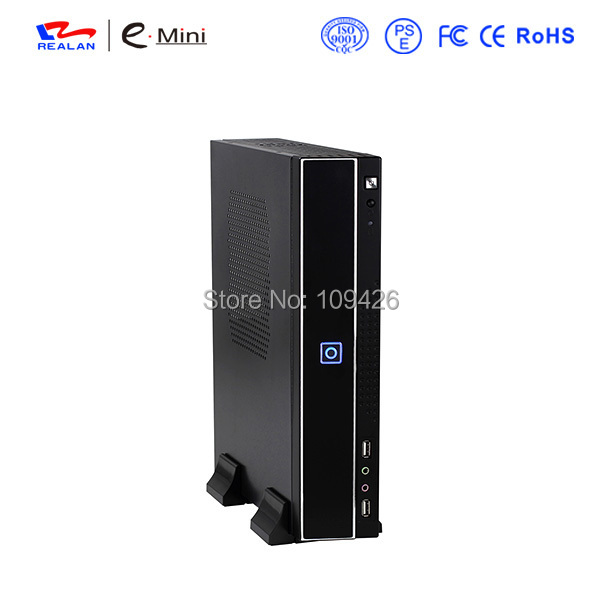 купить REALAN Mini ITX/ MicroATX Industrial PC Case E-T01B with Power Supply, 1*PCI Slot, SGCC 0.6mm по цене 2280.64 рублей