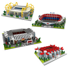 BS Football Old Trafford Camp Nou Bernabeu San Sir Stadium Real Madrid Barcelona Club Diamond Building Model Nano Blocks KidsToy термоланчбокс iris barcelona nano cooler цвет оранжевый