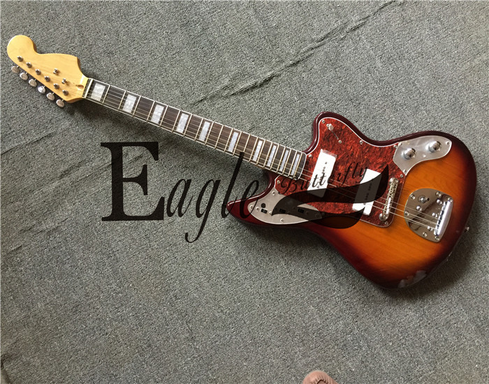 Eagle. Butterfly electric guitar   bass custom shop Jaguar 21 P90 pickup Jazzsunset color electric guitar  available in stock|Electric Guitar| |  - title=