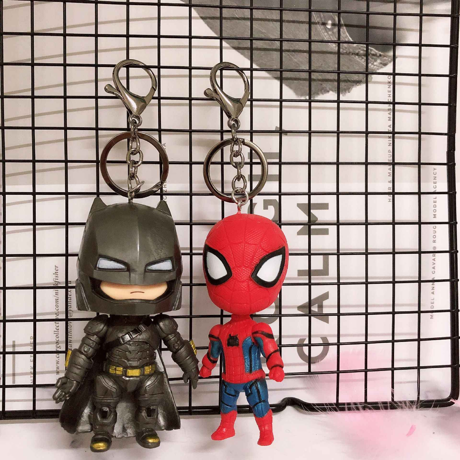 2019 חם FUNKO פופ מקורי דרקון כדור סופרמן נוקמי ספיידרמן באטמן התאבדות Squad דמות בובת אסיפה דגם KeyChain