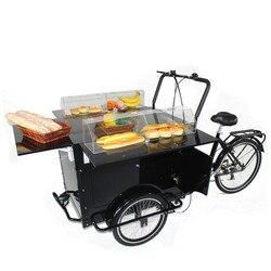 Gorąca sprzedaż street cargo rower pedał elektryczny trike żywności cargo rower trójkołowy przez bezpłatną wysyłkę