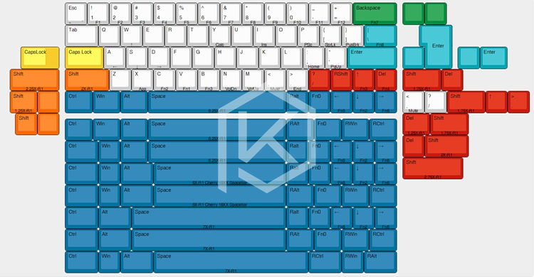 US $26 6 |xd60 xd64 Custom Mechanical Keyboard Kit up tp 64 keys Supports  TKG TOOLS Underglow RGB PCB GH60 60% programmed gh60 kle-in Keyboards from