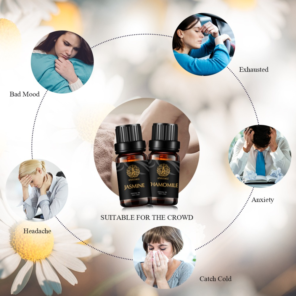 A APHROSMILE Water-soluble Plant Essential Oil Chamomile Jasmine Skin Care Oil Massage Oil 10ml Aromatherapy Oil Free Shipping