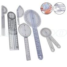1 комплект 6 типов 360 градусов 180 градусов спинальный Гониометр транспортировщик Userful мульти-линейка Гониометр, угломер медицинский спинной линейка