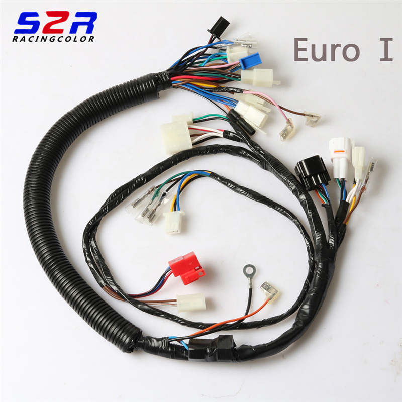 S2R Motorcycle Socket Cord Assy Circuit Cable Complete For YAMAHA YBR125 YBR YB 125 Electric Full Vehicle Wiring Harness Line