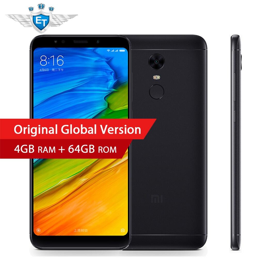 Глобальная версия Xiaomi Redmi 5 плюс 4 ГБ Оперативная память 64 ГБ Встроенная память 5.99 ''полный Экран 4 г LTE телефон Snapdragon 625 Octa core MIUI 9 ce