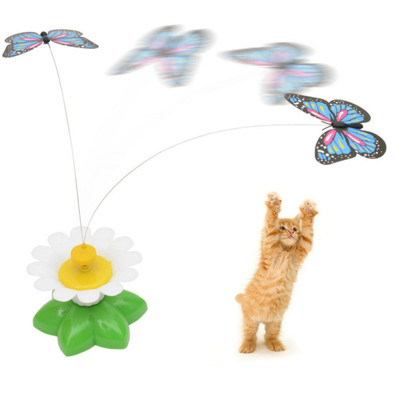 Funny Pet Cat Toys Electric Rotating Colorful Butterfly and birds Pet Scratch Toy For Cats Kitten Dog Cat interactive trainning ...