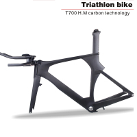 Aero Carbon Triathlon Bicycle Frame For Di2 Derailleur 700c Wheel Carbon Bicycle Frame Carbon Time Trial Frame With Brake TRP