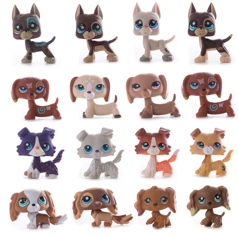Rare Lps Pet Shop Toy 41 Style Free Shipping Original Shorthair Great Dane Cocker Spaniel Action Figure Toy For Children Gift