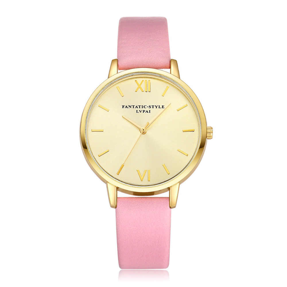 Relojes LVPAI de diseño Simple 2018 reloj de pulsera de cuarzo para mujer, relojes de regalo para mujer, relojes de lujo de 9 colores