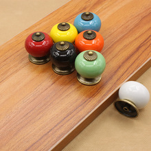 European modern simple ceramic handle single hole cartoon children black and white cabinet drawer knob
