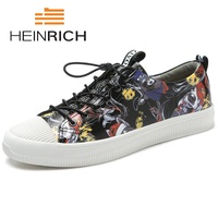 Генрих Для мужчин повседневная обувь 2018; популярные минималистский Дизайн Для мужчин обувь дышащая Одежда высшего качества плоские ленивы