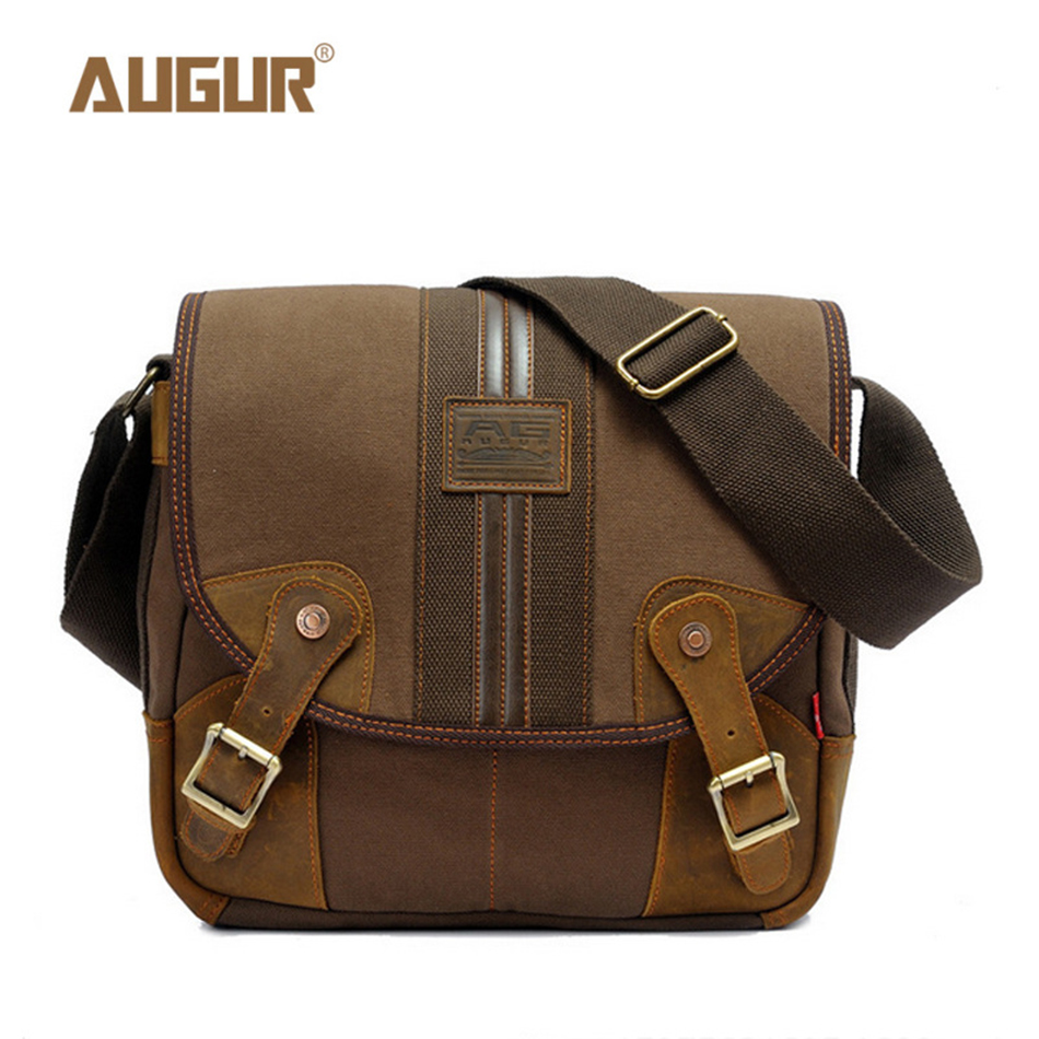 AUGUR Cotton Bag Men Vintage Bags Messenger Bag Laptop Male Man Casual Tote Shoulder Crossbody bags Handbags High Quality augur 2017 canvas leather crossbody bag men military army vintage messenger bags shoulder bag casual travel school bags