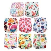 Милые водонепроницаемые подгузники для плавания, штаны для бассейна, унисекс, регулируемые детские подгузники для плавания, один размер, дышащий чехол, костюм для малышей