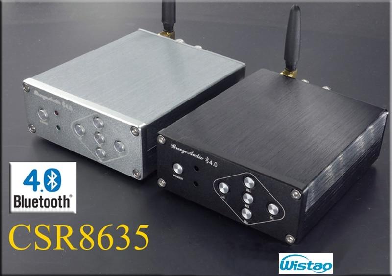 ФОТО Bluetooth 4.0 2X50W Digital Amplifier HIFI Stereo TPA3116 CSR8635 No Including Power Supply DC12-25V Black / Gray Free Shipping