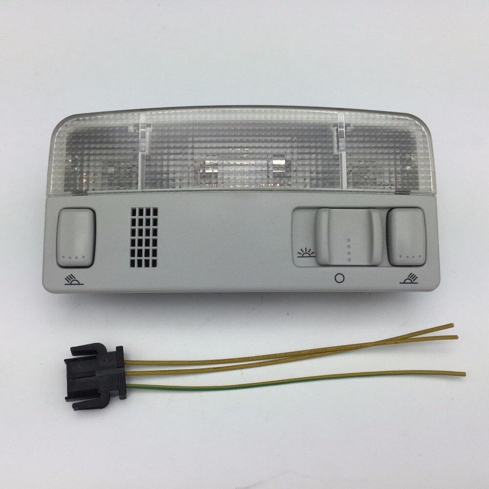 Pour VW Passat B5 Polo Touran Golf MK4 Skoda Octavia Gris Dôme Lumière Lampe de lecture Gris Couleur Fil Câble 1TD 947 105 3B0 947 105 C